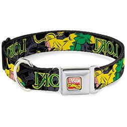 Buckle-Down Seatbelt Buckle Dog Collar - LOKI in Action Blac