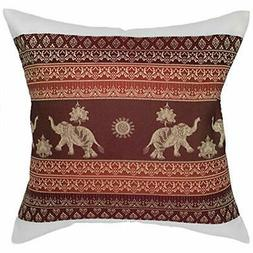 Throw Pillow Covers Print Elephant Sun Decorative Case Cushi