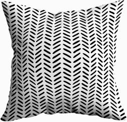 TOMWISH Throw Pillow Covers,TOMKEY Hidden Zippered 16X16Inch