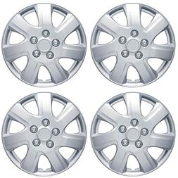 "BDK Toyota Camry 2006-2014 Style Hubcap Wheel Cover, 16"" Sil"
