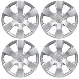 "BDK Toyota Camry Style Hubcaps Cover, 16"" Inch Silver Replic"