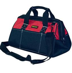 HUIJIA 16-inch Wide Mouth Tool Bag with Water Proof Molded B