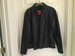 womens leather motorcycle jacket xl new