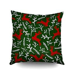 ROOLAYS X'Mas Decorative Throw Square Pillow Case Cover 16X1