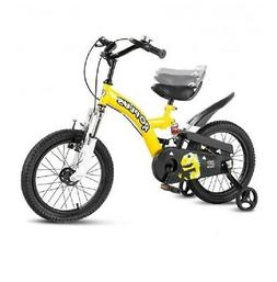 Yellow 16 Inch Kids Bicycle Sports Bike w/ Training Wheel Do