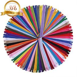 16 inch Zippers - Assorted Color Nylon Coil Zippers Bulk - S